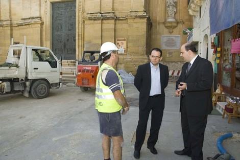 Dr Chris Said visits St George's Square refurbishments