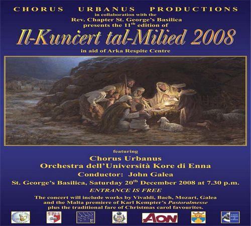 Il-Kuncert tal-Milied 2008 at St George's Basilica