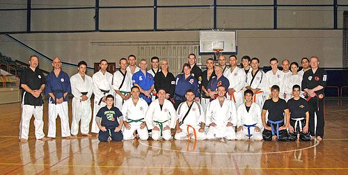 Pressure point expert at karate club in Gozo