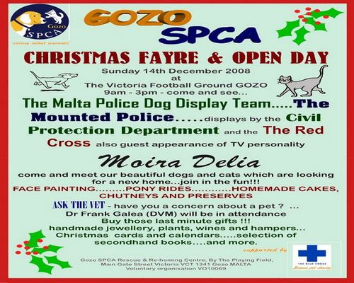 Gozo SPCA Christmas Fayre and Open Day