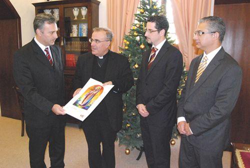 BOV presents official copy of calendar to Archbishop