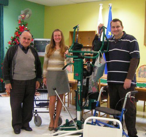 Mr Marcin Depczynski and Ms Aleksandra Pomper with Mgr Emanuel Curmi