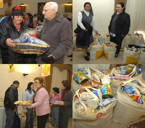 Presentation of hampers held in Gozo