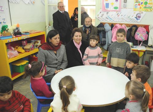 Ministers visit schools within the Gozo College