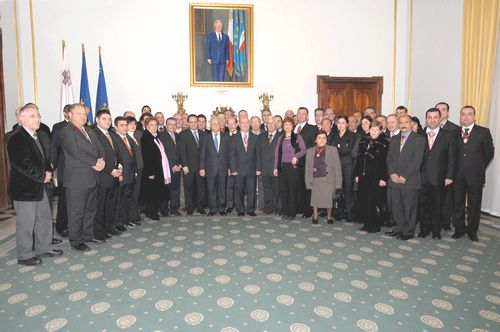 President meets with Mayors of Gozo and Malta