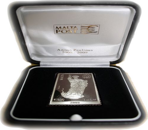 2nd silver replica stamp commemorating Pauline Year