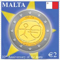 Stamp issue commemorates 10th anniversary of euro