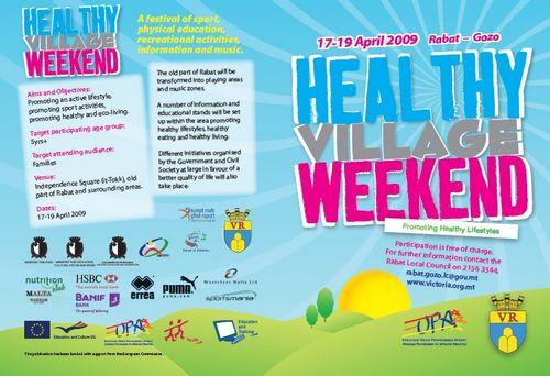 Victoria Healthy Village Weekend to be held