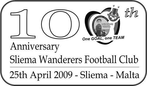 Sliema Wanderers Football Club 100th anniversary special hand postmark