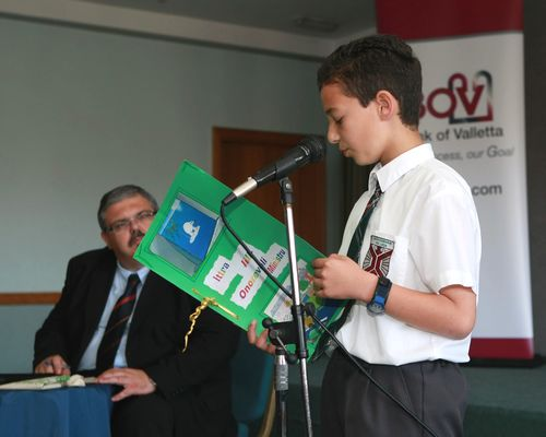 Children raise environmental concerns with Minister Pullicino