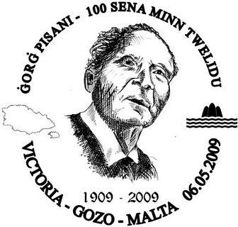 Special Hand Postmark commemorating Gorg Pisani