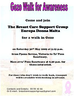 'The Gozo walk for awareness' this month