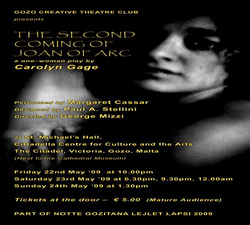 The second coming of Joan of Arc - A one woman play