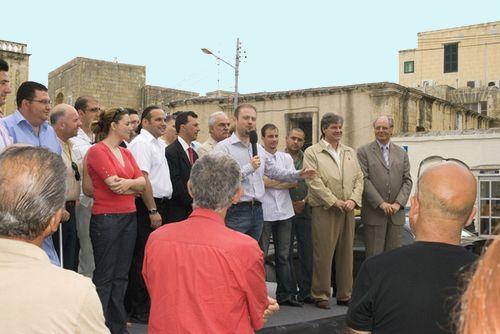 Labour Leader Dr Joseph Muscat visits Gozo