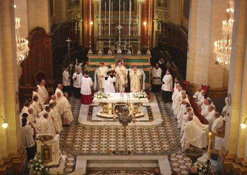 The Gozo diocese celebrates Papal anniversary