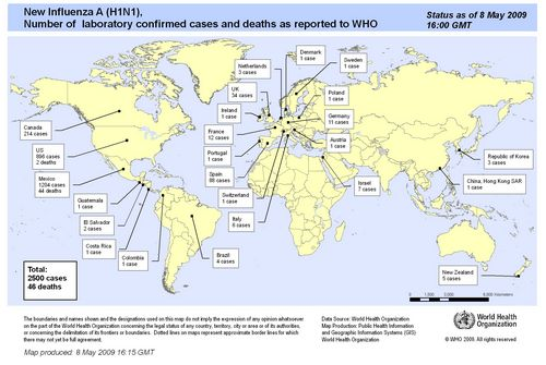 Latest flu update reports 4,379 cases in 29 countries with 49 deaths