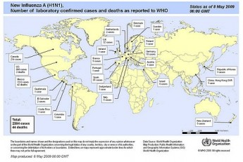 Latest flu update reports 2,384 cases in 24 countries and 44 deaths