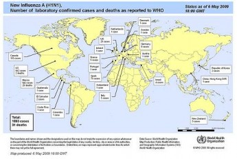 WHO flu update reports 1893 cases in 23 countries