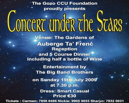 'Concert Under The Stars' - Gozo CCU fundraiser