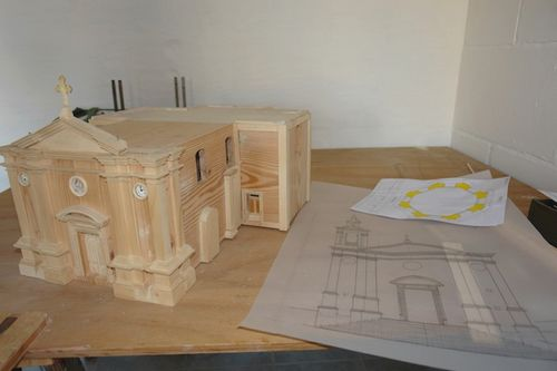 Replica model of the old Ghajnsielem Parish Church