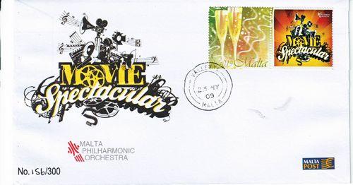 Commemorative covers for Malta Philharmonic Orchestra
