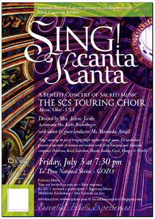 Sing! Kanta! Canta! - US Choir to visit Gozo in July