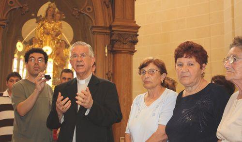 His Eminence Gerardo Majella Agnelo visits Gozo