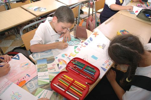 School children help with Eco-Gozo vision