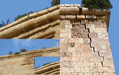 St John's Cavalier at Cittadellan - In danger of collapse