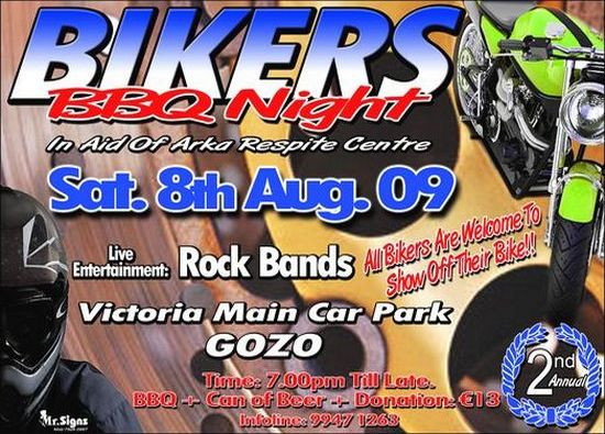 Bikers BBQ Night in aid of the Arka Respite Centre