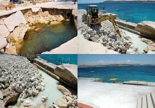 Repairs at Hondoq Bay finalised - Ministry for Gozo