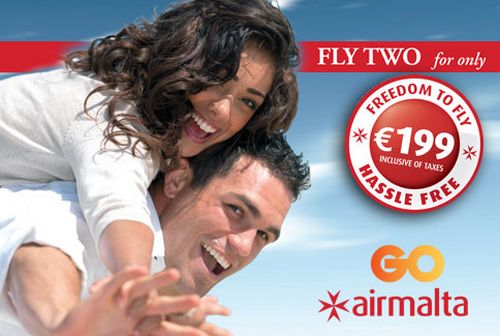 Air Malta travel offer for GO post-paid fixed phone customers