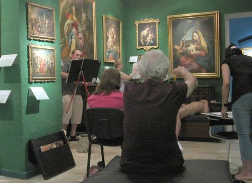 Madeleine Gera life class at the National Museum of Fine Arts
