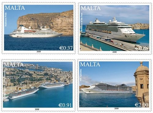 MaltaPost issues 2nd set of cruise liner stamps