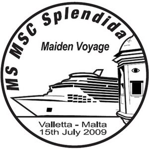 Hand postmark to commemorate MSC Splendida Maiden Voyage