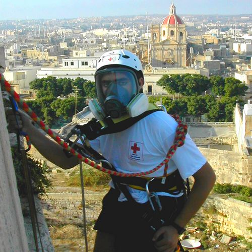 Gozo Red Cross cleanup of Citadel bastion walls