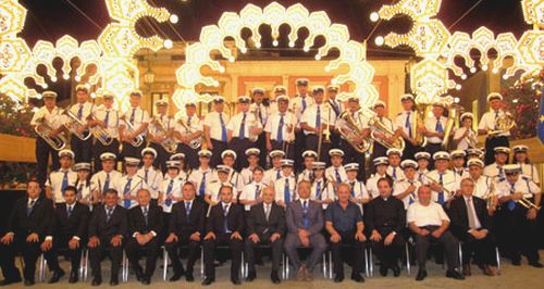 St Joseph Band represent Ghajnsielem at Sicilian feast