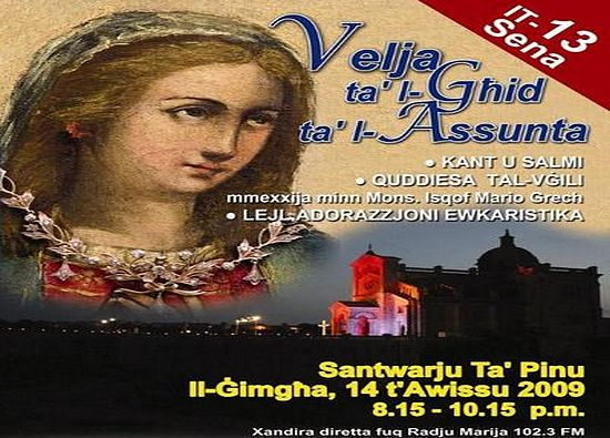 Diocesan Vigil on the eve of the Assumption of Our Lady