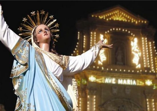 Festivities in Victoria to celebrate the Feast of Santa Marija