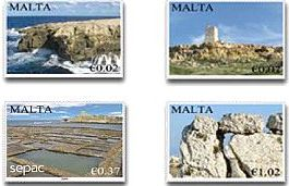 MaltaPost issues set of four stamps entitled 'Scenery'