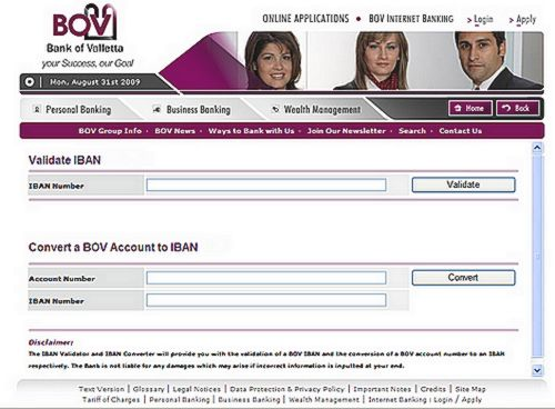 BOV enhances website with IBAN Calculator