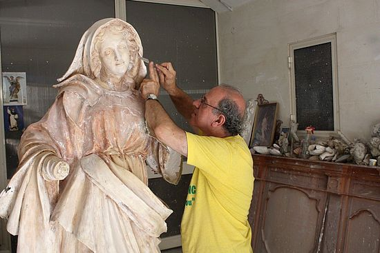 Blessing of new sculptured statue of Our Lady of Graces