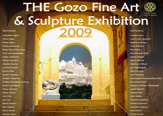 Gozo Fine Art and Sculpture exhibition opens soon