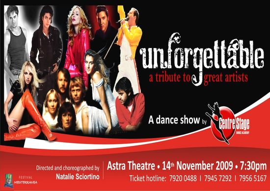 'Unforgettable' - a dance show at the Astra Theatre