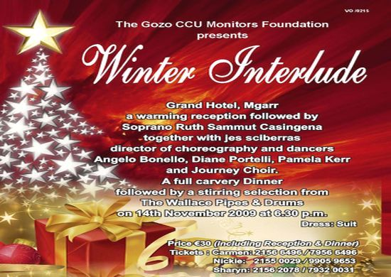 Gozo CCU Foundation announces its 'Winter Interlude'
