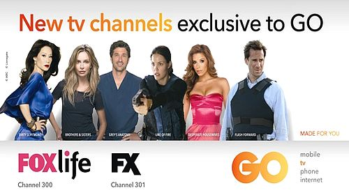 New tv channels – FOXlife and FX – exclusive to GO