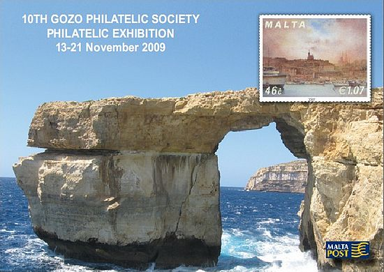 Occasion Card issued for the Gozo Philatelic Exhibition