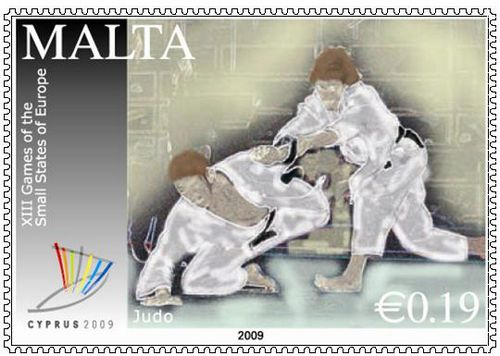 """Reprint of MaltaPost """"XIII Edition of the Games of the Small States of Europe"""" stamp"""