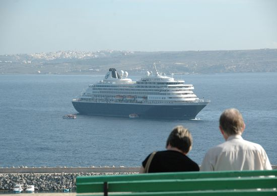 MS Prinsendam a recent visitor to Gozo for the day