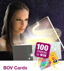 One Hundred BOV Prepaid Cards to be won this Christmas